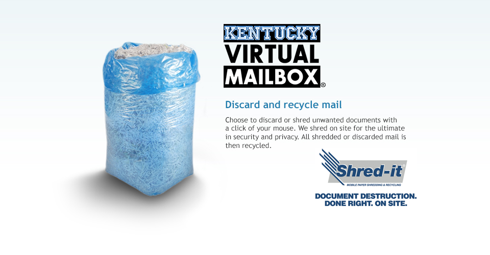 Kentucky Virtual Mailbox - Mail Shredding