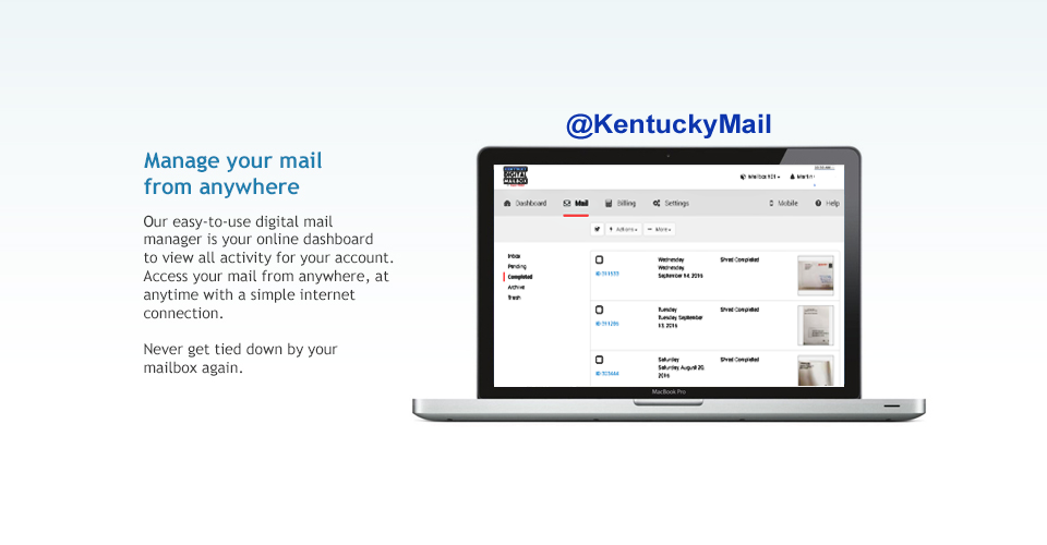 Kentucky Virtual Mailbox - Kentucky Mail